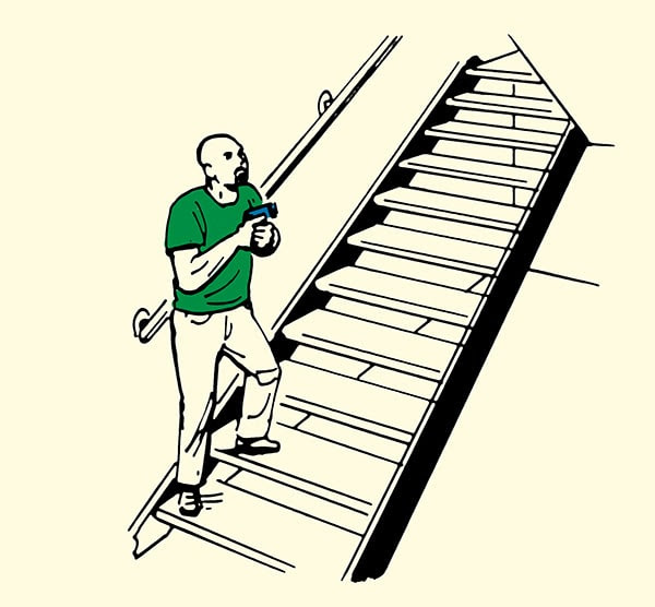 how to clear a home stairways illustration