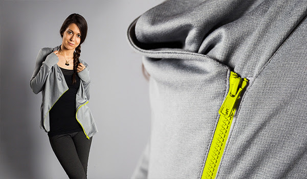 New Yoga Zip-Up Tunic