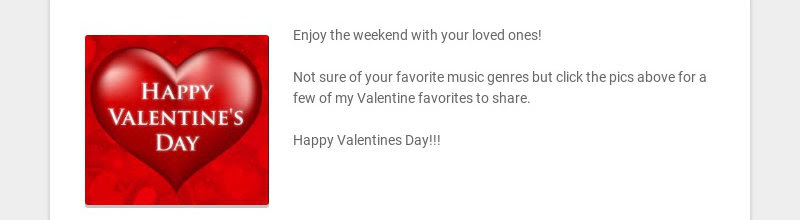 Enjoy the weekend with your loved ones! Not sure of your favorite music genres but click the...