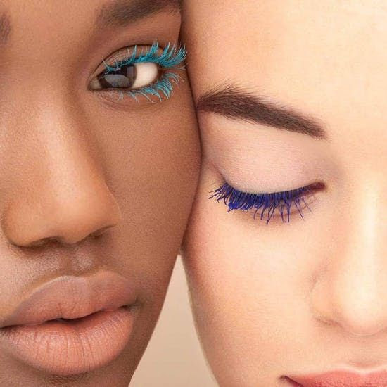 bright colored mascara spring make up trend