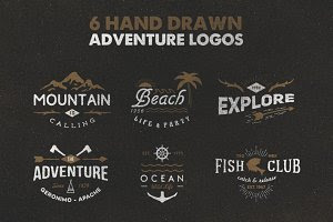 Hand Drawn Adventure Logos