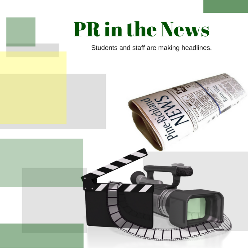 Newspaper and camera image