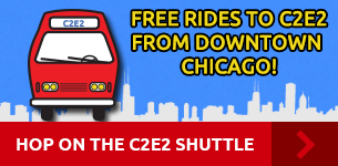 Hop on the C2E2 shuttle. Free rides to C2E2 from downtown Chicago!