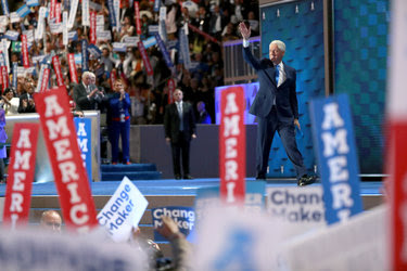 Former President Bill Clinton spoke at the Democratic National Convention in Philadelphia on Tuesday.