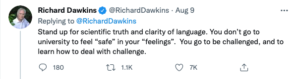 Tweet 2: Richard Dawkins