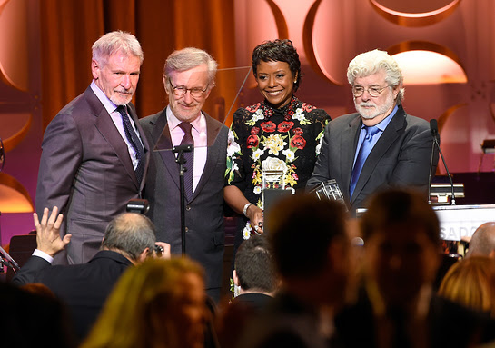 Harrison Ford, Steven Spielberg, Mellody Hobson, George Lucas