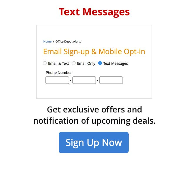 Get Exclusive offers and notifications of upcoming deals