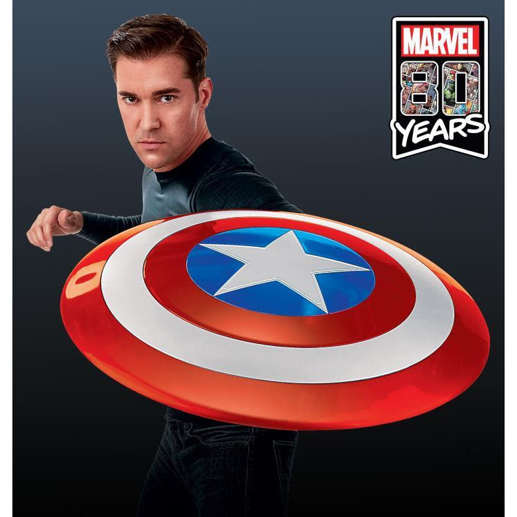 Image of Marvel Legends Gear Classic Comic Captain America Shield Prop Replica - Exclusive - OCTOBER 2019