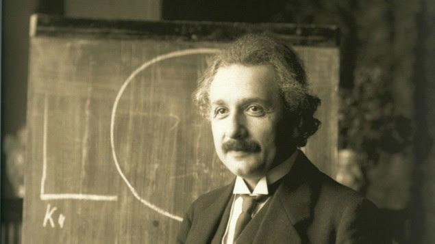 Albert Einstein during a lecture in Vienna in 1921. (Wikipedia/public domain)