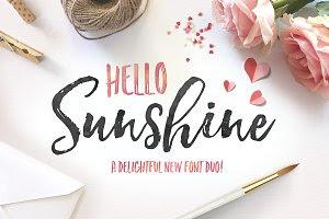 Hello Sunshine Font Duo