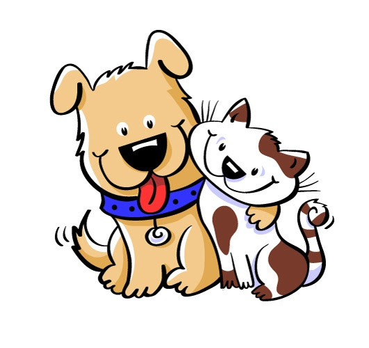 Image result for cats and dogs clipart