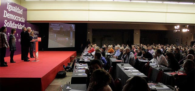 Reunión de la Asamblea programática de IU del pasado 4 de marzo.