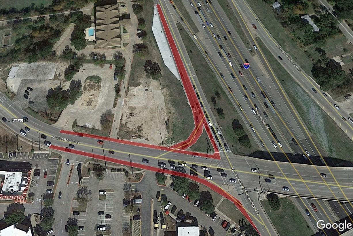 Map of lane closure