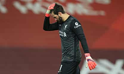 Klopp cannot explain Alisson's howlers in heavy loss for Reds