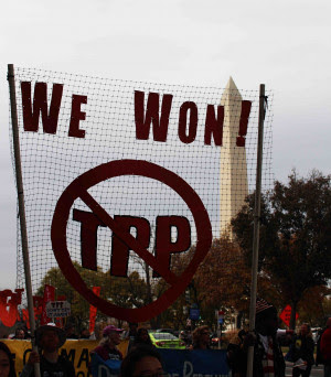 We Won: Stopped the TPP Credit to Eleanor Goldfield-Art Killing Apathy