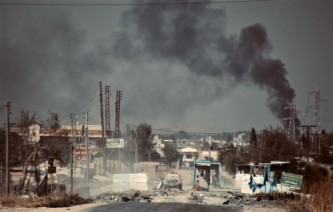 Ras al-Ayn town, Syria after Turkish airstrikes on Oct. 11. (Wikipedia, A. Lourie)