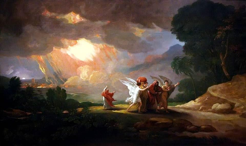 «El sol salía sobre la tierra, cuando Lot llegó a Zoar. Entonces Yavhé hizo llover sobre Sodoma y sobre Gomorra azufre y fuego de parte de Yavhé desde los cielos; y destruyó las ciudades, y toda aquella llanura, con todos los moradores de aquellas ciudades, y el fruto de la tierra». (Génesis 19, 23-25).