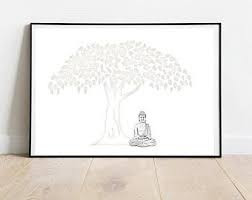 Bodhi tree drawing | Etsy