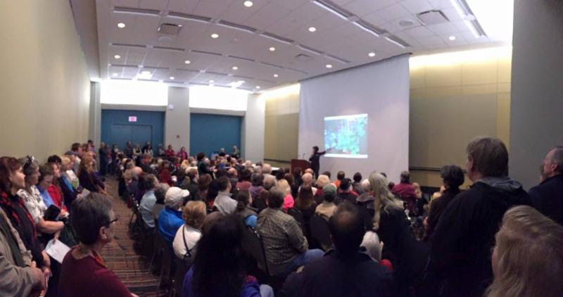 2016 Flower Show standing room only at Nancy's lecture.