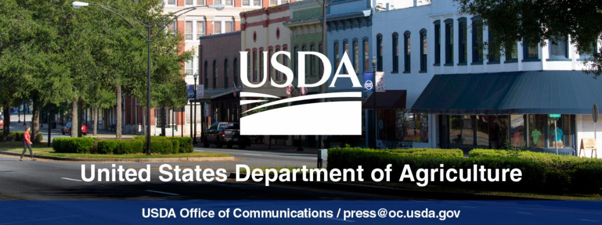 USDA banner on top of rural town