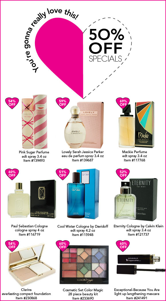 Save 50% OFF Beauty Gifts For Your Sweetheart + Free Shipping On Orders Over $70 at Fragrancenet.com