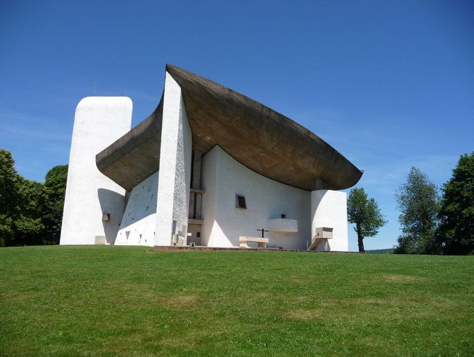 Built by                                                           French-Swiss                                                           architect Le                                                           Corbusier,                                                           Notre-Dame-du-Haut                                                           in France is                                                           popular with                                                           fans of                                                           post-modern                                                           architecture.