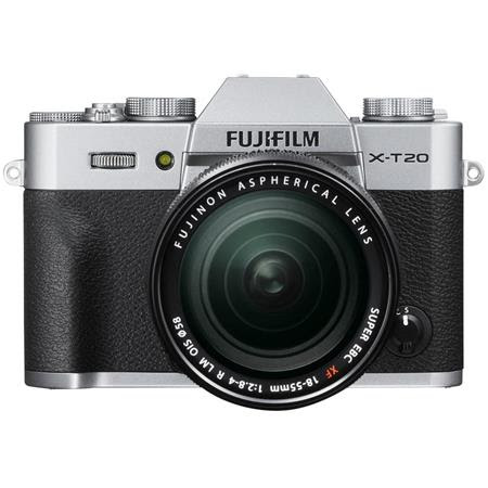 X-T20 24.3MP Mirrorless Digital Camera with XF 18-55mm F2.8-4 R LM OIS Lens, UHD 4K Video
