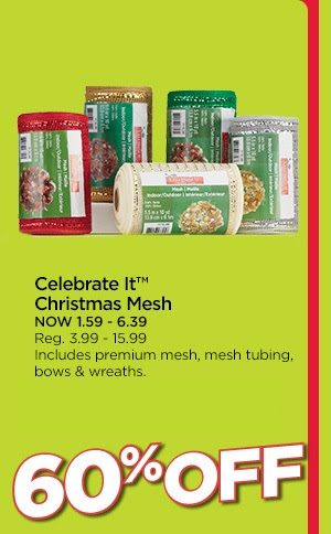 Celebrate It™ Christmas Mesh