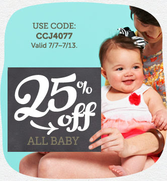 25% off All Baby Cards, Baby Announcements, Shower Invites, and More at Cardstore! Use code: CCJ4077, Valid through 7/13/14. Shop Now!