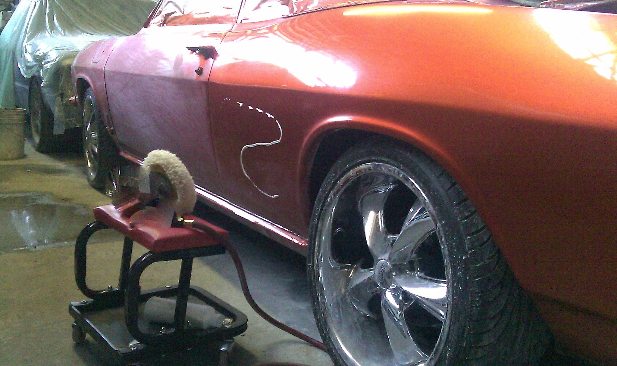 auto body repair custom show car painting color sand and buff