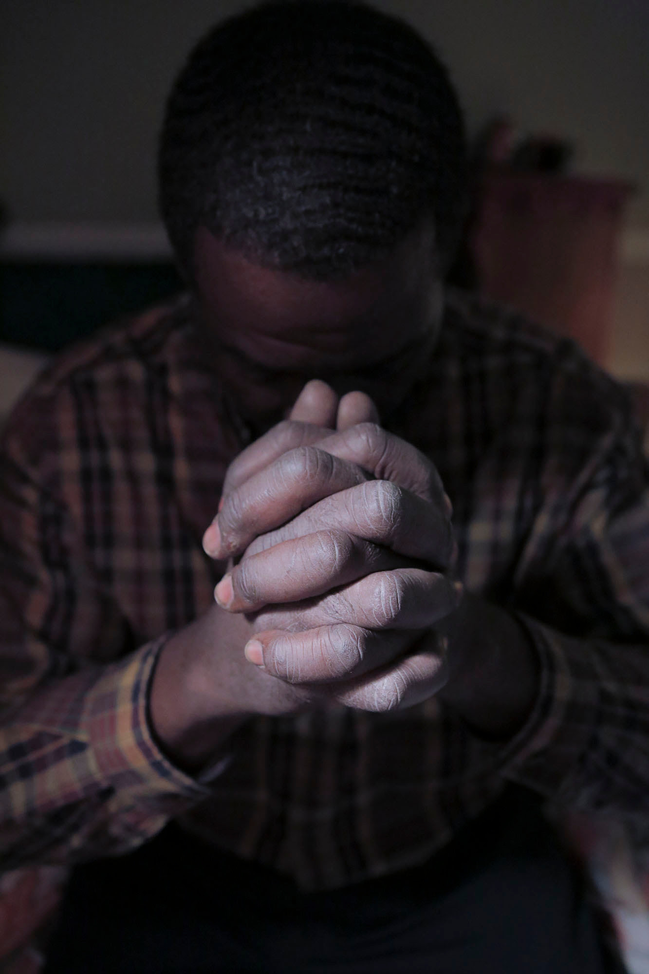 Anthony Gordon used his hands to beat people to get what he wanted when he was young. Now he uses them to pray and work his way out of homelessness.
