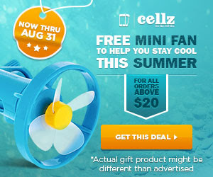FREE mini fan on all orders ab...