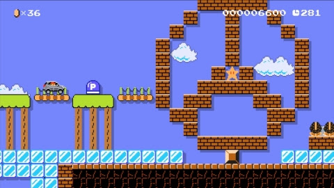 "The Mercedes-Benz Jump'n'Drive level is available in the ""Event Courses"" section of Super Mario Make ..."