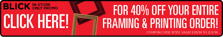 40% Off Winter Back to School Coupon - Framing