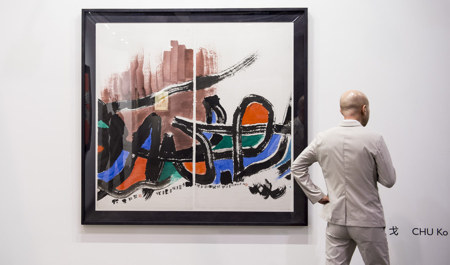 O que Vendido a Art Basel em Hong Kong