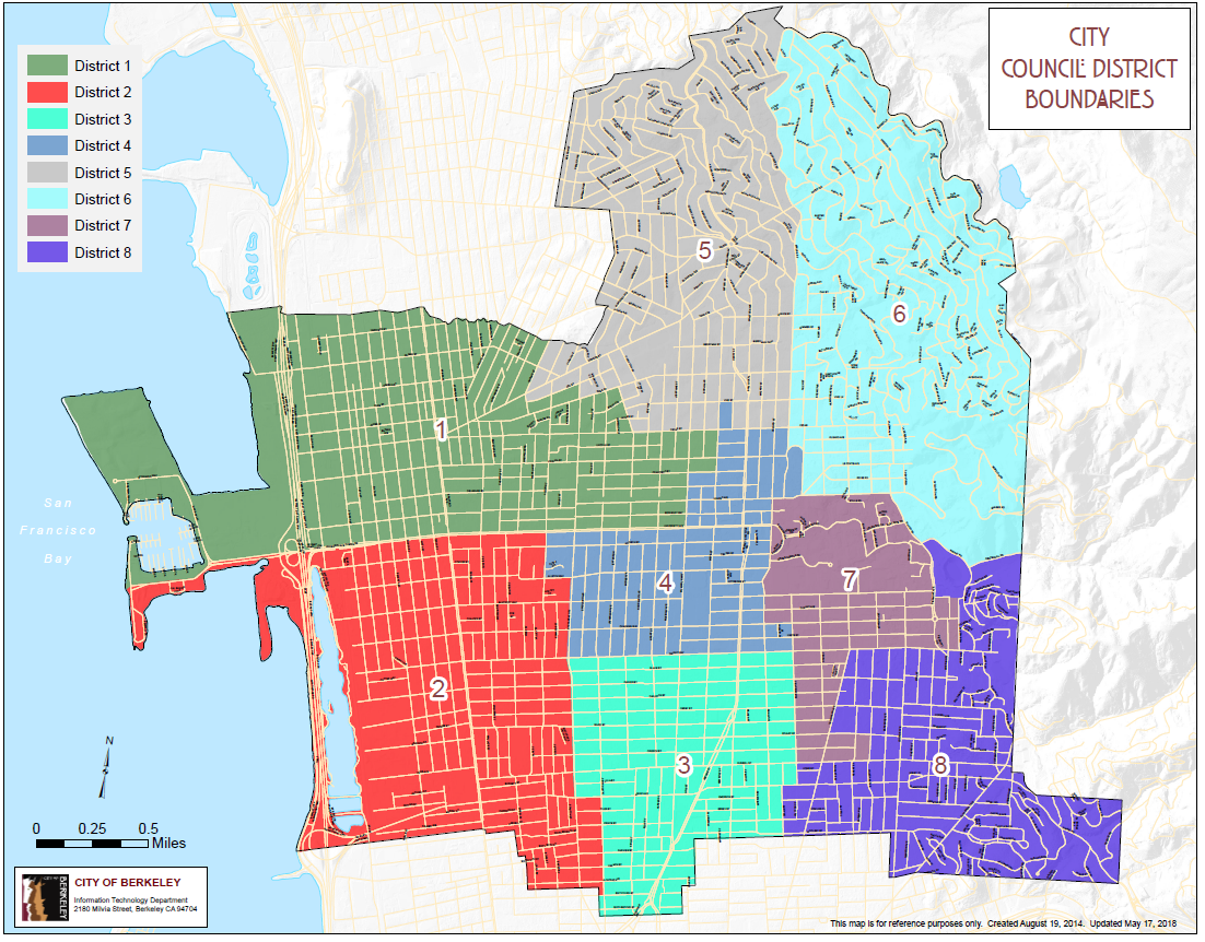 City of Berkeley Council Districts