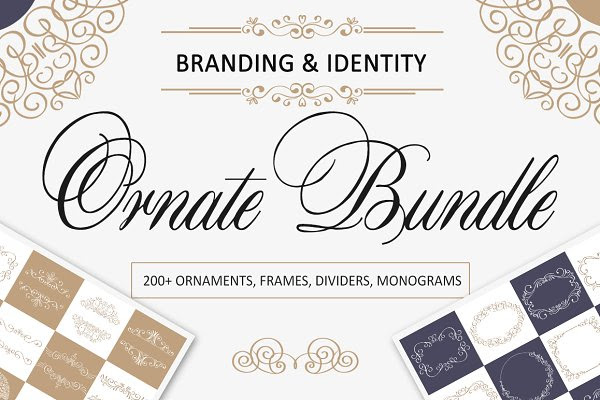 Ornate Bundle. Branding identity