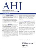 Cover of American Heart Journal