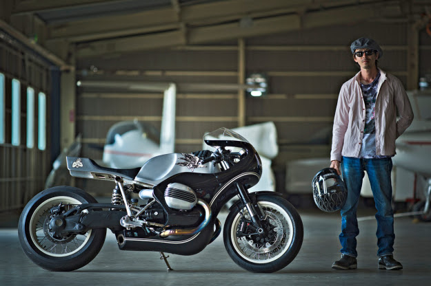 Custom motorcycle builder Hideya Togashi of Hidemo