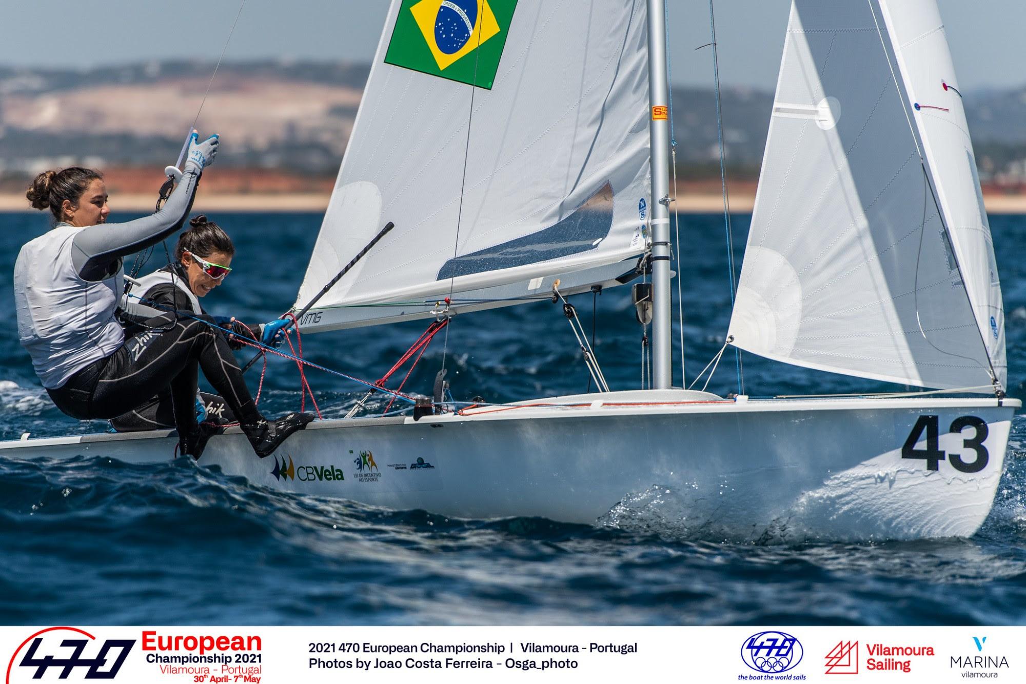 Fernanda Oliveira e Ana Barbachan encerram entre as cinco melhores do Campeonato Europeu de 470