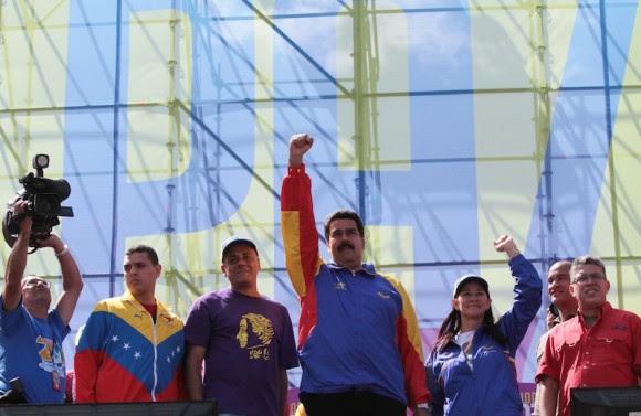 Gran Marcha de la Juventud por la Paz y por la Vida realizada el sábado 15 de febrero de 2014, en Caracas, encabezada por el Presidente Nicolás Maduro. Foto: Prensa Presidencial/ Miraflores
