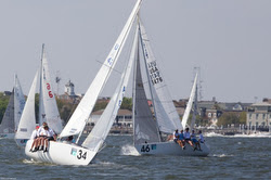 J/24s sailing off Charleston harbor