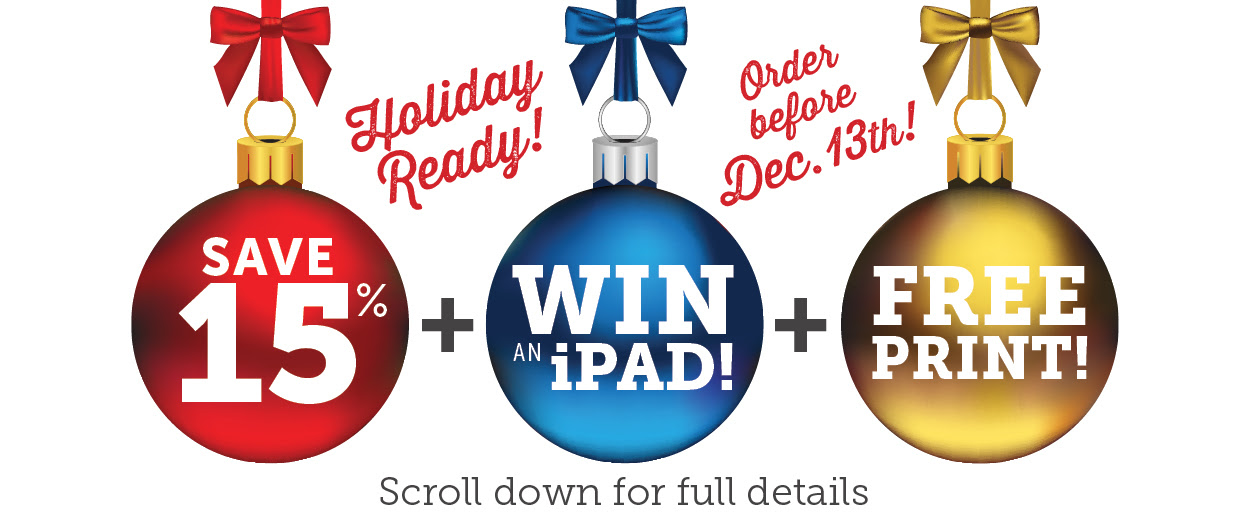 Win an iPad! Scroll down for more details!