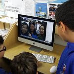 Rosmini Year 7 and 8 students connected to students in Busan, South Korea