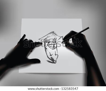 Artist. Vector illustration