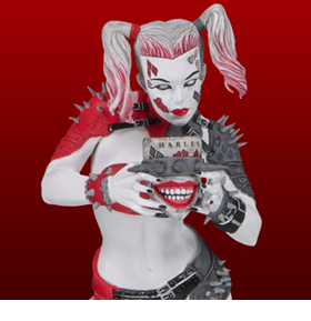 DC Comics Red White & Black Metal Harley Quinn Limited Edition Statue (Greg Horn)