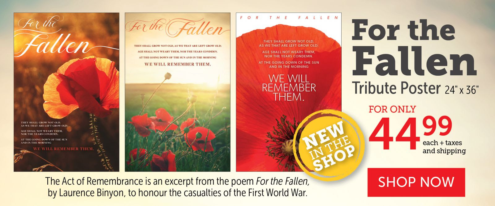 For the Fallen | $44.99