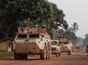 """La ONU mantiene una fuerza de """"mantenimiento de la paz"""", en la República Centroafricana, la cual, sin embargo, ha sido víctima de la violencia armada por parte de grupos rebeldes."""