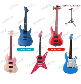 ESP x BanG Dream! Guitar & Bass Collection Figures Boxed Set of 5 Replicas