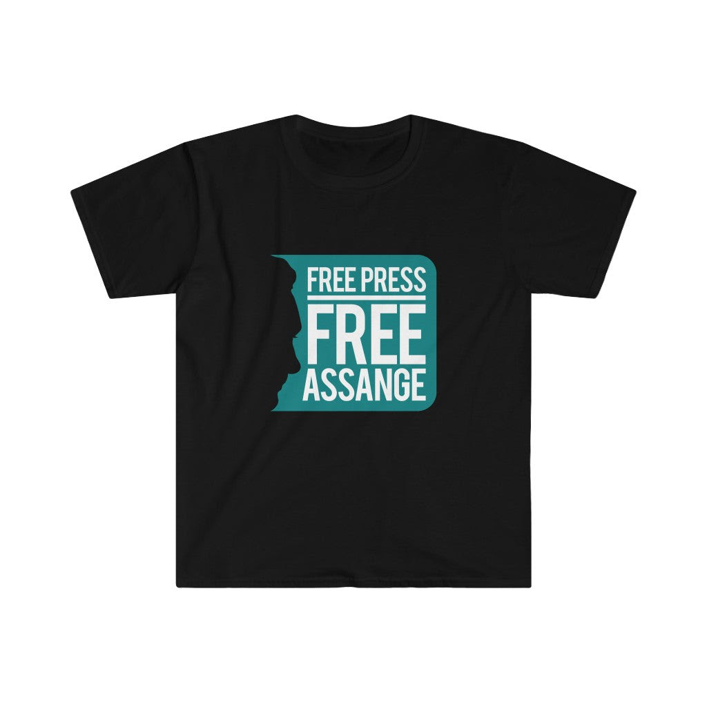 Free Press Free Assange - Men's Fitted Premium Tee